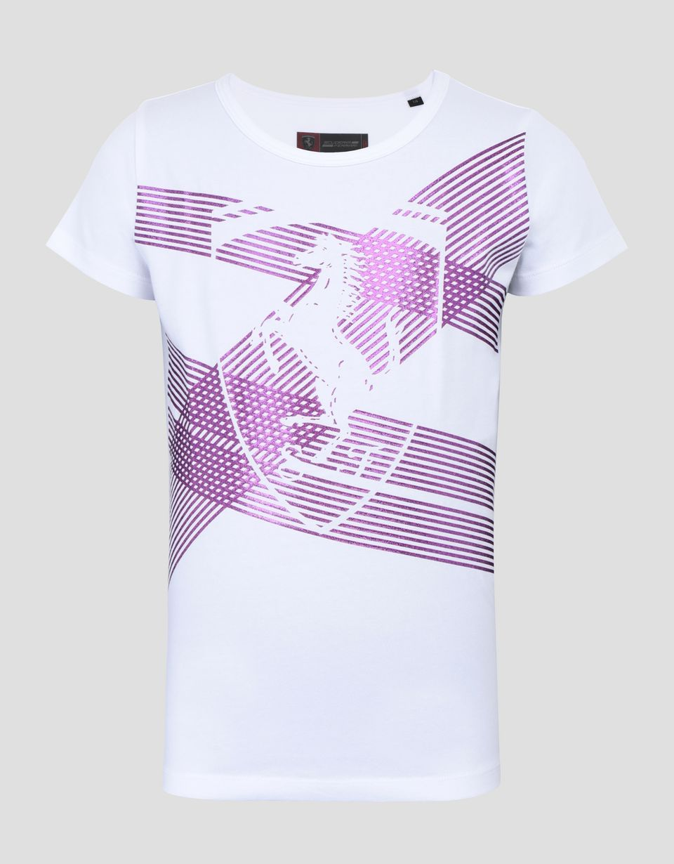 Scuderia Ferrari Online Store - Girl's jersey T-shirt with print - Short Sleeve T-Shirts