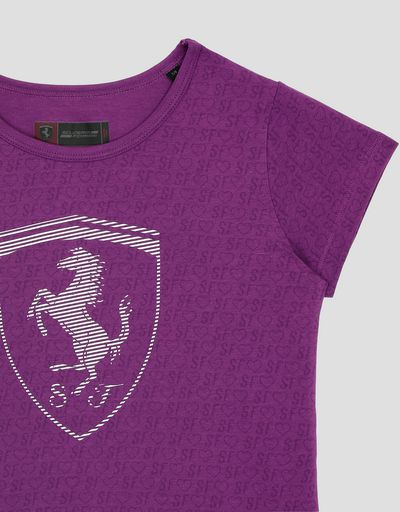 Scuderia Ferrari Online Store - Girls' T-shirt with all-over print - Short Sleeve T-Shirts