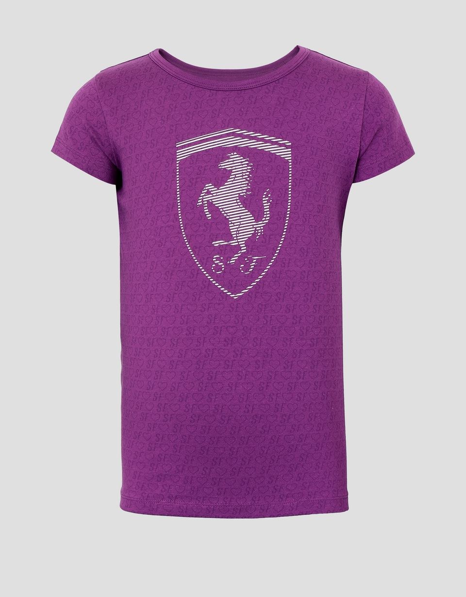 Scuderia Ferrari Online Store - Girl's T-shirt with all over print - Short Sleeve T-Shirts