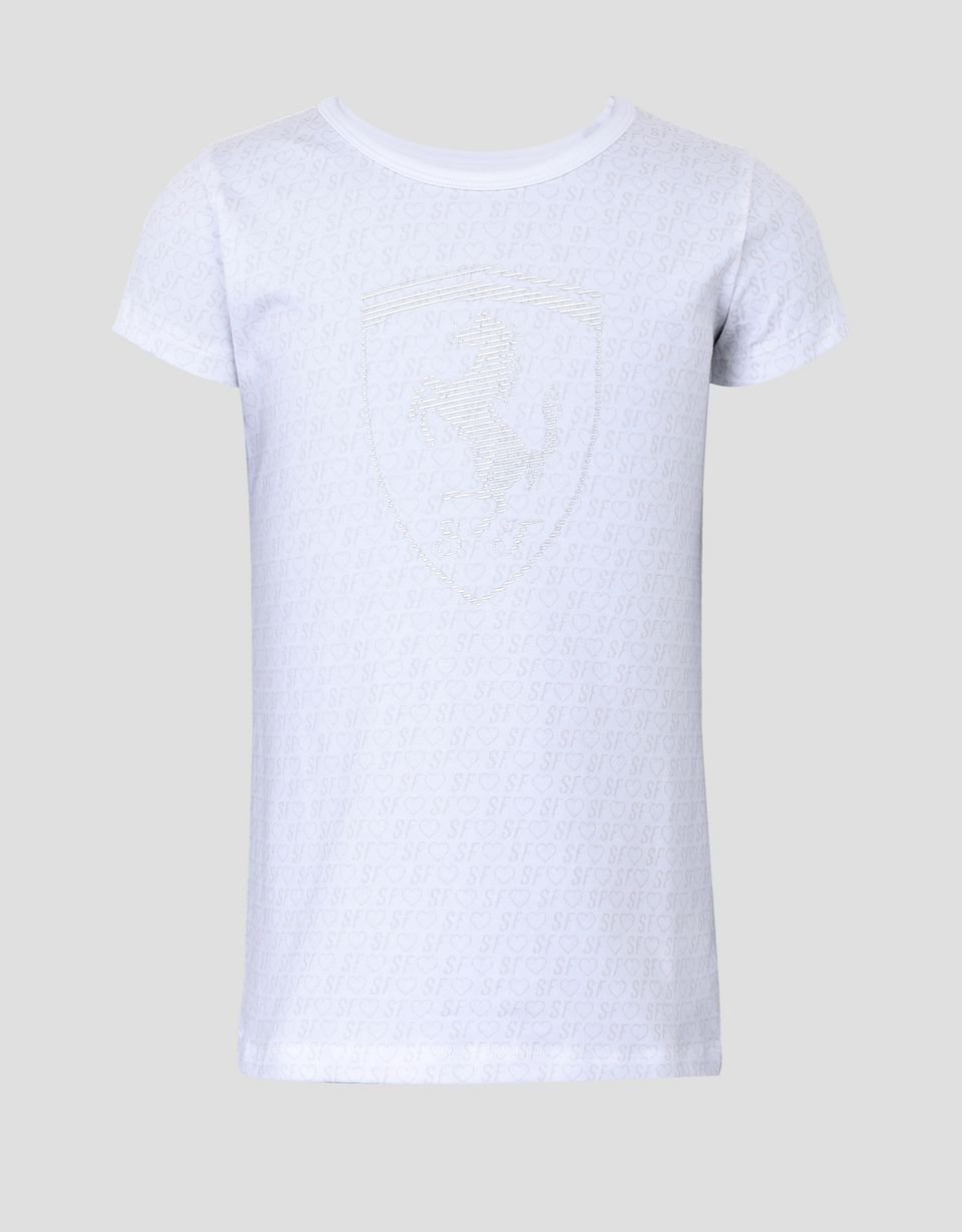 Scuderia Ferrari Online Store - T-shirt fille avec imprimé all-over - T-shirts à manches courtes