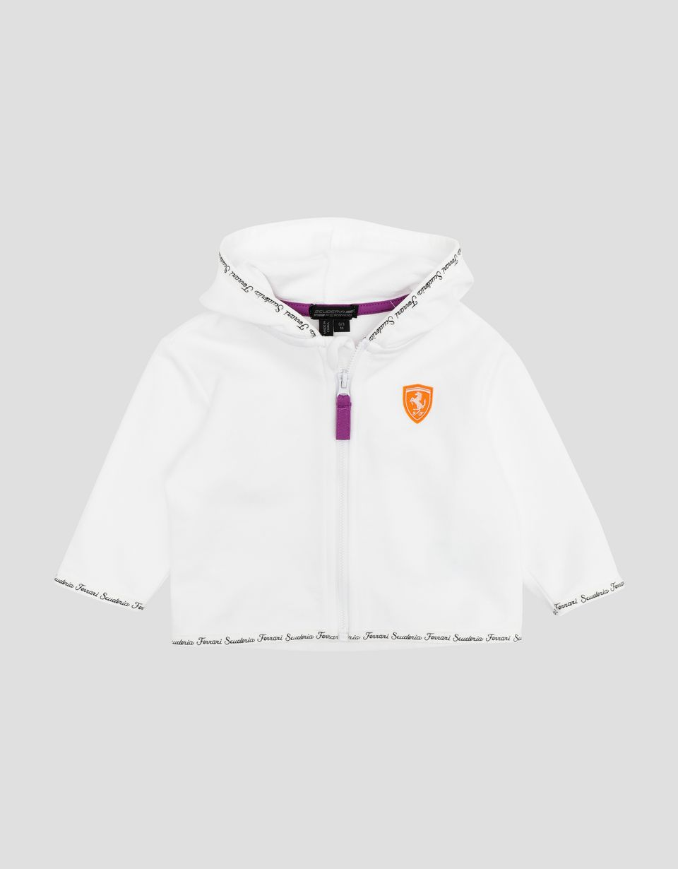 Scuderia Ferrari Online Store - Infant's sweatshirt with hood - Zip Hood Jumpers