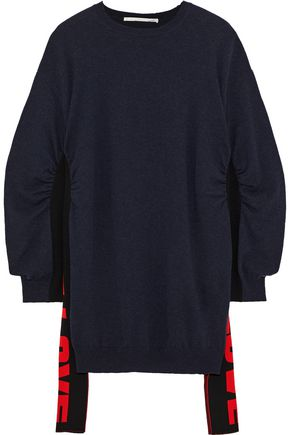 STELLA McCARTNEY Ruched intarsia wool sweater