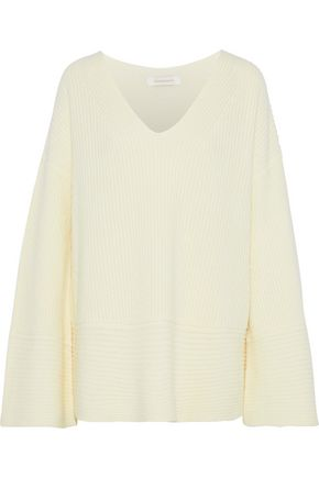 ZIMMERMANN Ribbed wool and cashmere-blend sweater