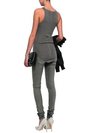 RICK OWENS Ribbed-knit cashmere tank