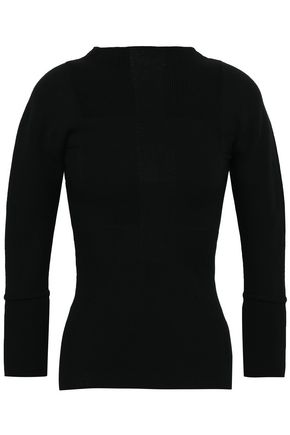 RICK OWENS Stretch-knit wool-blend to p