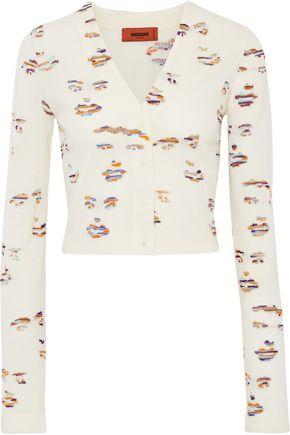 MISSONI Cropped intarsia wool-blend cardigan