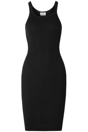 RE/DONE Ribbed stretch-cotton dress