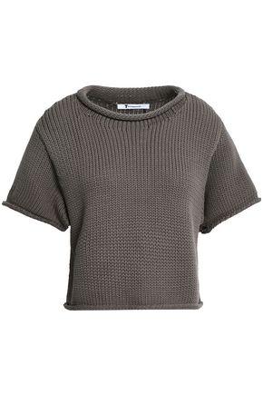 ALEXANDERWANG.T Cropped cotton-blend sweater