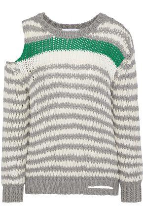 IRO Clapish cold-shoulder cotton-blend sweater