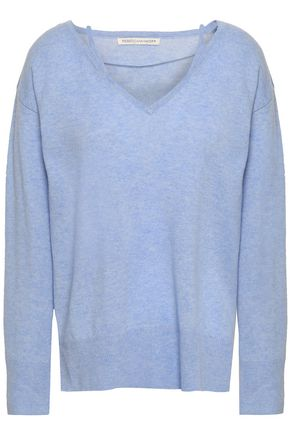 REBECCA MINKOFF Mélange wool and cashmere-blend sweater