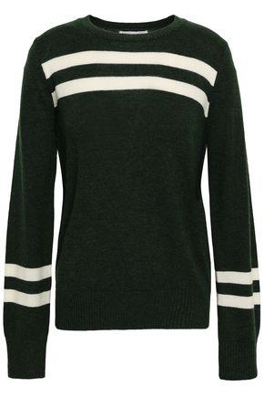 REBECCA MINKOFF Intarsia-knit wool and cashmere-blend sweater