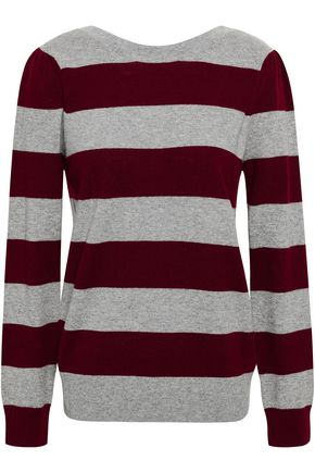 REBECCA MINKOFF Striped wool and cashmere-blend sweater