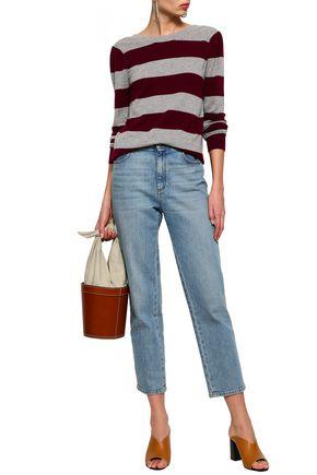 REBECCA MINKOFF Striped wool and cashmere-blend sweater