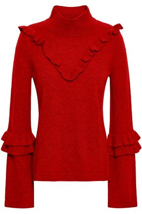 REBECCA MINKOFF Shelly wool and yak-blend turtleneck sweater