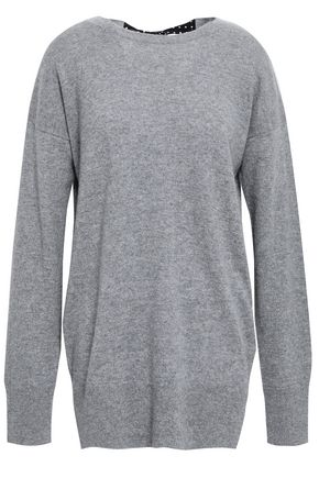 EQUIPMENT Gafton silk-trimmed mélange cashmere sweater
