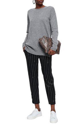 EQUIPMENT Gafton silk-trimmed mélange cashmere sweater