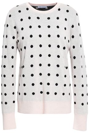 EQUIPMENT Polka-dot jacquard-knit sweater
