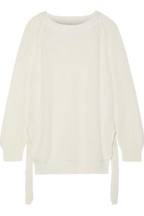 IRIS & INK リブ編み コットン セーター
