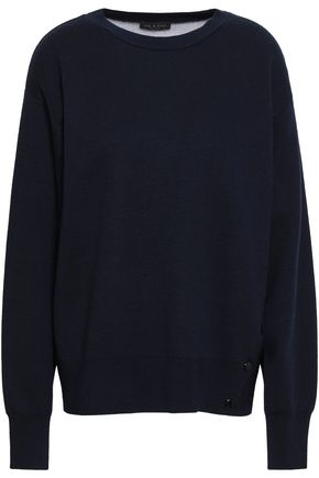 RAG & BONE Button-detailed merino wool-blend sweater