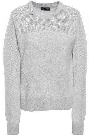 RAG & BONE Sabreena open knit-paneled mélange cashmere sweater