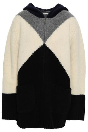 CHINTI AND PARKER Color-block wool and cashmere-blend hoodie