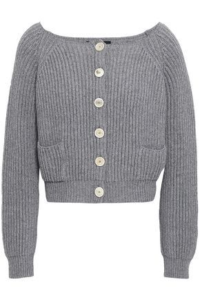 PIAZZA SEMPIONE Ribbed wool and cashmere-blend cardigan