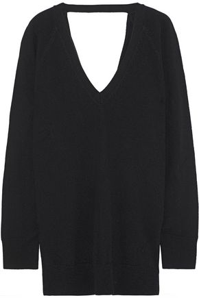 EQUIPMENT Asher open-back wool and cashmere-blend sweater