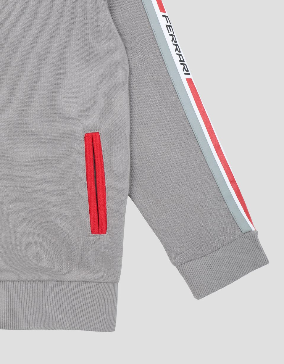 Scuderia Ferrari Online Store - Hooded unisex French terry top - Zip Hood Sweaters