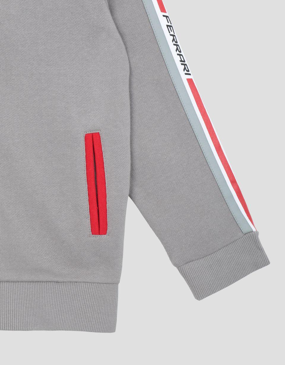 Scuderia Ferrari Online Store - Maglia con cappuccio ragazzo e ragazza in French Terry - Maglioni con Zip e Cappuccio