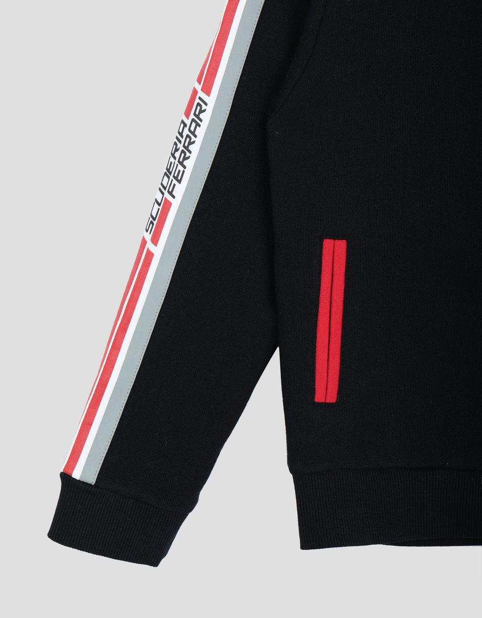 Scuderia Ferrari Online Store - Boy's and girl's hooded sweater in French Terry -