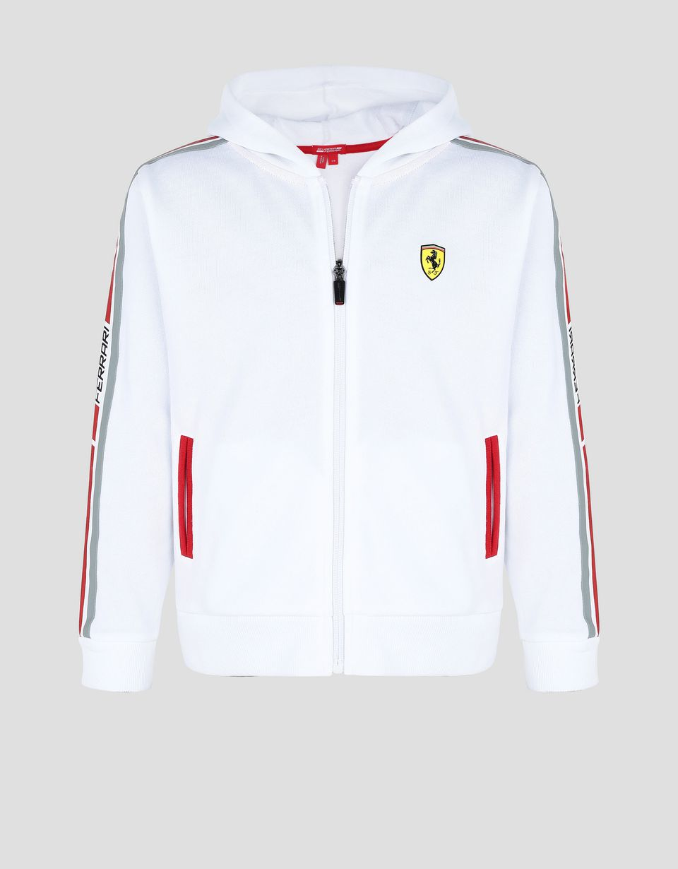 Scuderia Ferrari Online Store - Boy's and girl's hooded sweater in French Terry - Zip Hood Jumpers