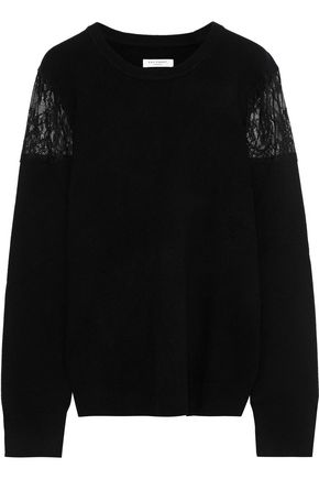 EQUIPMENT Shane lace-paneled wool sweater