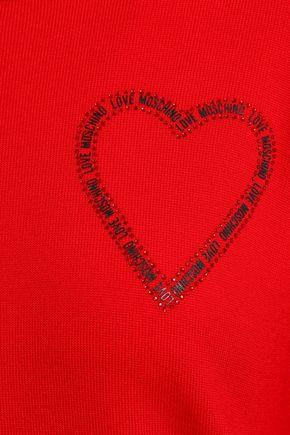 LOVE MOSCHINO Appliquéd wool sweater