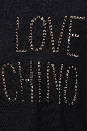 LOVE MOSCHINO Studded wool-blend sweater