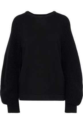 AKRIS Waffle knit-paneled cashmere sweater