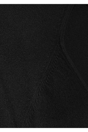 FRAME Cutout stretch-knit top