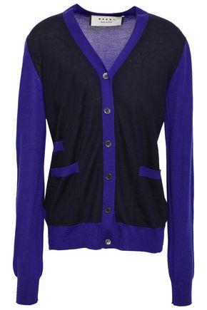 MARNI Two-tone cashmere cardigan
