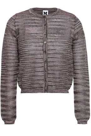 M MISSONI Cropped metallic crochet-knit cardigan