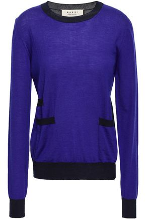 MARNI Two-tone cashmere sweater