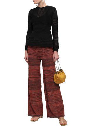M MISSONI Crochet-knit cotton-blend sweater