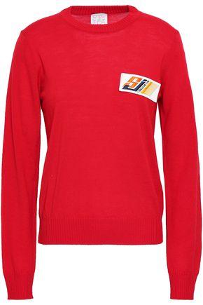STELLA JEAN Appliquéd virgin wool sweater