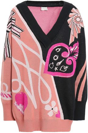 TEMPERLEY LONDON Wool-blend jacquard sweater