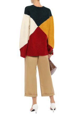 DEREK LAM Color-block intarsia-knit sweater