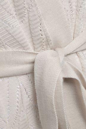 M MISSONI Crochet-knit virgin wool-blend cardigan
