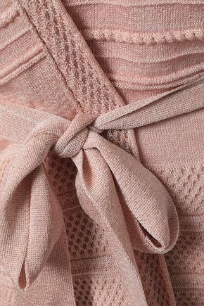 M MISSONI Metallic crochet-knit cardigan