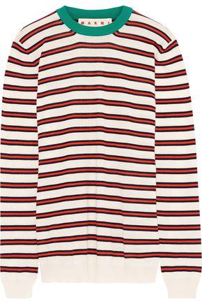 MARNI Striped cashmere-blend sweater