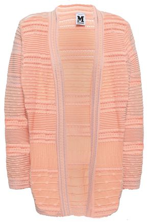 M MISSONI Ribbed crochet-knit cotton-blend cardigan
