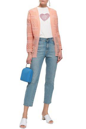M MISSONI Ribbed crochet-knit cotton-blend cardigan