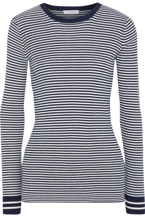EQUIPMENT Virginia striped cotton, silk, and cashmere-blend sweater