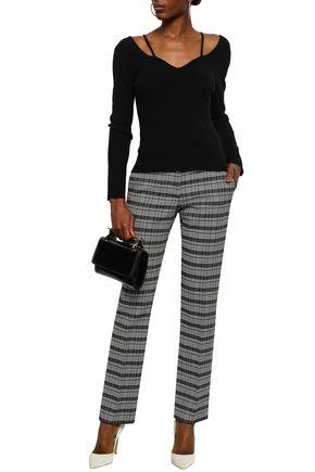 ALTUZARRA Cutout stretch-knit top